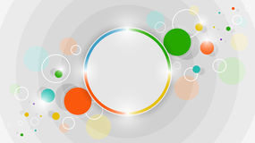 Abstract colorful circles  design. Abstract colorful circles  design with glitter Royalty Free Stock Image