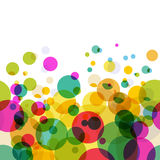 Abstract colorful circles pattern. Vector seamless background Royalty Free Stock Images