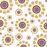 Abstract colorful circles retro style background Royalty Free Stock Photos