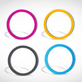 Abstract colorful circles, rings. Abstract colorful option circles, rings background stock illustration