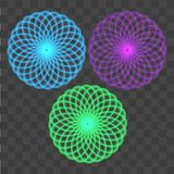 Abstract colorful circles on transparent background. Vector Stock Photography