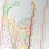 Abstract colorful circuit board background. circuit lined pattern illustration Royalty Free Stock Photography