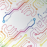 Abstract colorful circuit board background. circuit lined pattern illustration Royalty Free Stock Photos