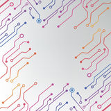 Abstract colorful circuit board background. circuit lined pattern illustration Royalty Free Stock Images