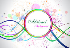 Abstract colorful circular background with grunge Royalty Free Stock Image