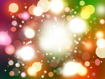 Abstract colorful circular bokeh background Stock Image