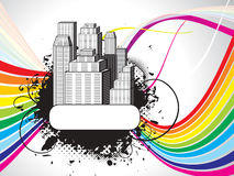 Abstract colorful city background Stock Images