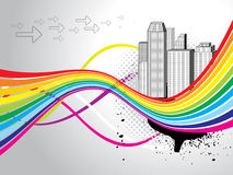 Abstract colorful city background Royalty Free Stock Images