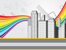 Abstract colorful city background Stock Photo
