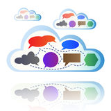 Abstract colorful cloud computing Stock Image