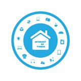 Internet Of Things Concept Design With Various Icons Stock Photos