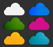 Abstract colorful cloud labels Royalty Free Stock Image