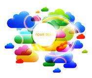 Abstract colorful clouds backgrounds Royalty Free Stock Photography