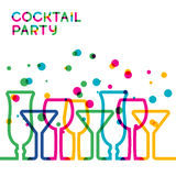 Abstract colorful cocktail glass background. Concept for bar men Royalty Free Stock Photos