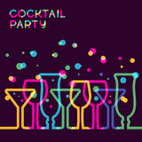 Abstract colorful cocktail glass background. Concept for bar men Stock Images
