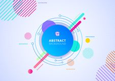 Free Abstract Colorful Color Circle Geometric Pattern Design Background Radial Dots Texture Stock Photography - 160432232