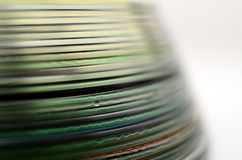 Abstract colorful compact discs detail Royalty Free Stock Photos