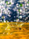Abstract, Colorful Composition With Small Bokeh Lights, Water Drops And Water Texture