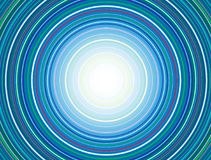 Concentric Circles Pattern, Blue. Abstract Colorful Concentric Circles Pattern, Vector Design vector illustration
