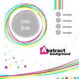 Abstract colorful concept. Vector isolated round frame, vawe, information text. Stock Photo