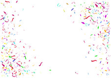 Abstract colorful confetti background. Isolated on the white background. Stock Photos