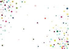 Abstract colorful confetti background. Isolated on the white. Vector holiday illustration. Royalty Free Stock Photography