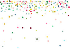 Abstract colorful confetti background. Isolated on the white. Vector holiday illustration. Stock Photos