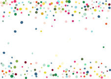 Abstract colorful confetti background. Isolated on the white. Vector holiday illustration. Stock Images