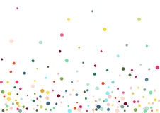 Abstract colorful confetti background. Isolated on the white. Vector holiday illustration. Royalty Free Stock Images