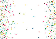 Abstract colorful confetti background. Isolated on the white. Vector holiday illustration. Royalty Free Stock Photos