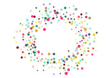 Abstract colorful confetti background. Isolated on the white. Vector holiday illustration. Royalty Free Stock Image
