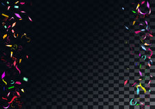 Abstract colorful confetti background.  on the transparent background. Abstract colorful flying confetti background.  on the transparent background. Vector Royalty Free Stock Photography