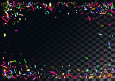 Abstract colorful confetti background.  on the transparent background. Abstract colorful flying confetti background.  on the transparent background. Vector Stock Photos