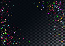 Abstract colorful confetti background.  on the transparent background. Abstract colorful flying confetti background.  on the transparent background. Vector Stock Image