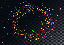 Abstract colorful confetti background.  on the transparent background. Abstract colorful flying confetti background.  on the transparent background. Vector Royalty Free Stock Images
