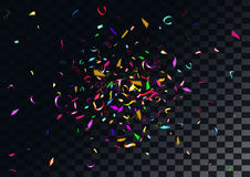 Abstract colorful confetti background.  on the transparent background. Abstract colorful flying confetti background.  on the transparent background. Vector Stock Photography