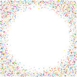 Abstract colorful confetti background.  on white. Vector holiday illustration. Royalty Free Stock Photos