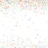 Abstract colorful confetti background.  on white. Vector holiday illustration. Royalty Free Stock Photo