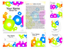 Abstract colorful corporate id template Royalty Free Stock Images
