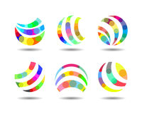 Abstract Colorful Creative Agency Logo Design Stock Image