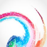 Abstract colorful creative circles background design Stock Image