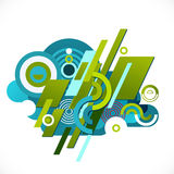 Abstract colorful and creative geometric with a variety of graphic Royalty Free Stock Image