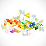 Abstract colorful and creative triangle background Royalty Free Stock Images