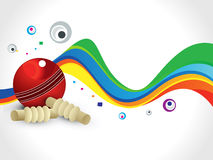 Abstract colorful cricket wave background Royalty Free Stock Image