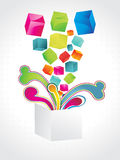 Abstract colorful cube background. Stock Photo