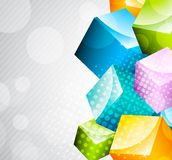 Abstract colorful cubes Royalty Free Stock Images