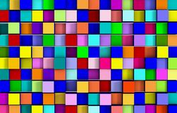 Abstract colorful cubic background 3D rendering.  Royalty Free Stock Photography