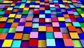 Abstract colorful cubic background 3D rendering.  Stock Images