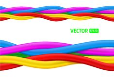 Abstract colorful curly wires Stock Photo
