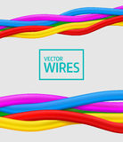 Abstract colorful curly wires. Seamless vector Royalty Free Stock Photos